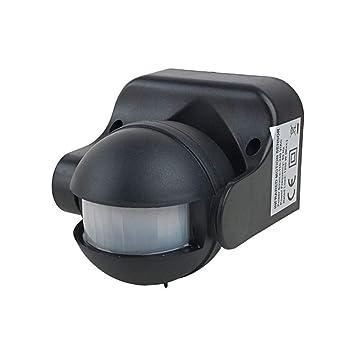 Soulitem AC 110V-240V - Detector de Infrarrojos de Cuerpo Humano para Exteriores (LED, Interruptor automático de Sensor de Movimiento): Amazon.es: Hogar