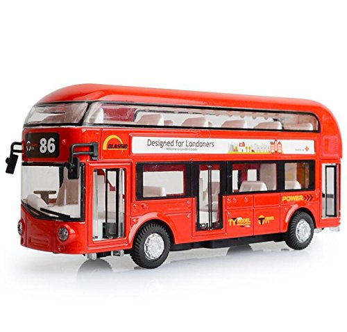 ROMIRUS Pull Back City Bus Toy 7