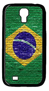Brasil Brick Wall Case Cover for Samsung Galaxy S4 / SIV / I9500 - PC - Black