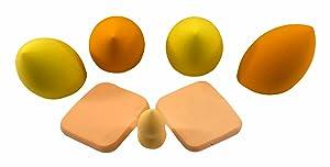 7 Pcs Beauty Makeup Sponge Blender Set – Premium Ultra-Soft Beauty Blender Sponge Set – Multi-Colored Makeup Sponges Dry & Wet Applicator for Cream, Powder and Liquid