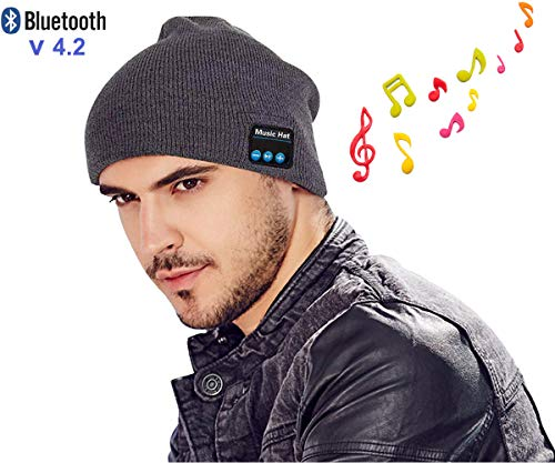 Bluetooth Beanie Hat Headphones Upgraded V4.2 Wireless Smart Beanies Headset