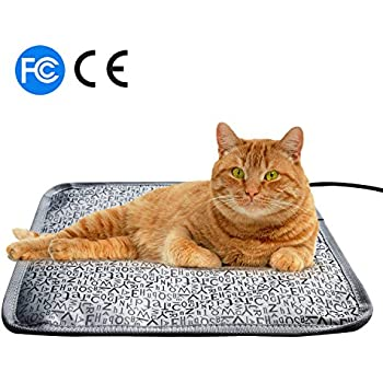 "Pet heat pad for Cats Dogs ,Pet Electric Waterproof Heating Pad with Chew Resistant Steel Cord (S:17.7x17.7 in, FLOWER) (S-17.7""x17.7"", Letter)"