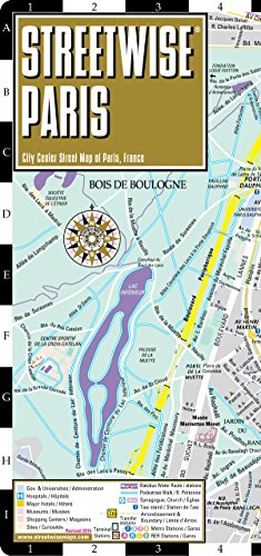 Streetwise Paris Map – Laminated City Center Street Map of Paris, France