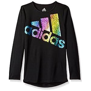 adidas Girls' Long Sleeve Girly Tee Shirt