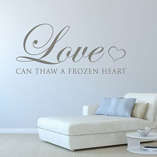 Amazon.com: Quote Wall Decals, Love Can Thaw a Frozen Heart ...