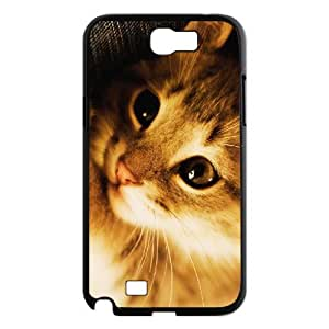 Samsung Galaxy Note 2 Cases Happy National Cat Day, Cat [Black]