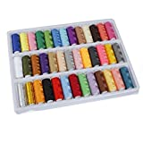 Doitb 39 Rolls Assorted Color 200 Yards Per Unit Polyester Cotton Sewing Thread Spool Set