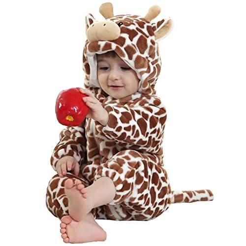 MerryJuly Toddler Unisex-Baby Halloween Costume Animal Onesie Outfit Cow 100cm/18-24 Months -