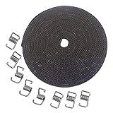 KeeYees 10M GT2 Rubber Timing Belt 6mm Width + 8pcs Tensioner Spring Torsion for 3D printer RepRap