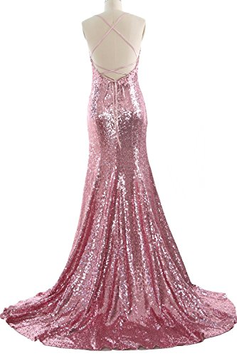 Prom Grau Mermaid MACloth Party Sexy Women Wedding V Neck Gown Gown Sequin Formal tAOqTAw