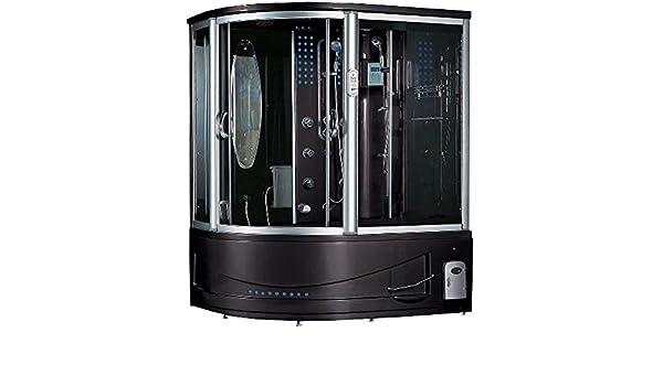 mayabath 302 Siena vapor ducha masaje bathtub44; derecho – negro: Amazon.es: Bricolaje y herramientas