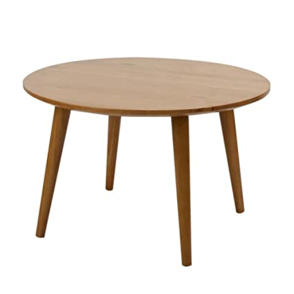 Charmant Mid Century Modern Coffee Table Round Solid Wood Cherry No Tools Needed