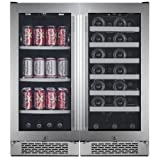 Avallon AWBV8627 27 Bottle + 86 Can Side-by-Side Wine & Beverage Center