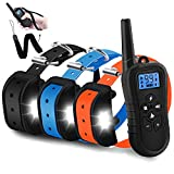 Cheap WDFZONE Dog Training Collar for 3 Dogs Waterproof Rechargeable Shock Collar with Remote for 3 Dogs