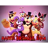 Five Nights at Freddy's FNAF 1/4 Size Cake Topper Edible Image Photo Cake Frosting Icing Topper Sheet Personalized Custom Customized Birthday Party - 1/4 Cake - 16966