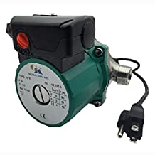 BOKYWOX 110-120V Domestic Circulation Pump 3/4'',3-Speed Hot Water Circulator Pump (RS15-6,Stainless Green)