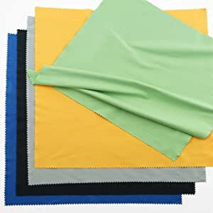 Extra Large Microfiber Cleaning Cloths - 20 Pack - 12 x 12 inch (Black, Grey, Green, Blue, Yellow)