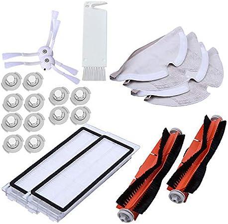 XZANTE Adecuado para Xiaomi Roborock S50 S51 Aspiradora Recambios Kits Trapos de Limpieza Trapeador Húmedo Filtro de Cepillo Lateral Cepillo de Rodillo Roll 23Pcs: Amazon.es: Hogar