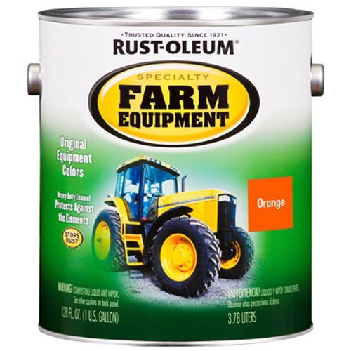 RUST-OLEUM 7458402 Gallon Allis Chalmers Orange Bright Enamel Paint by Rust-Oleum