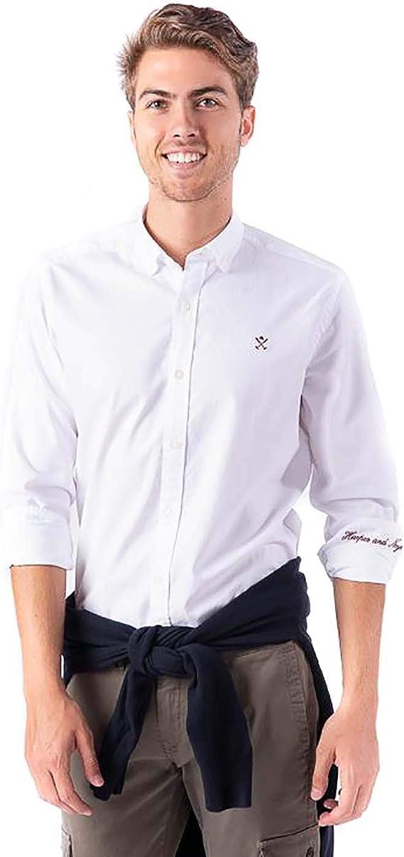 HARPER - NEYER Camisa Loring Oxford Blanca Large Blanco: Amazon.es: Ropa y accesorios