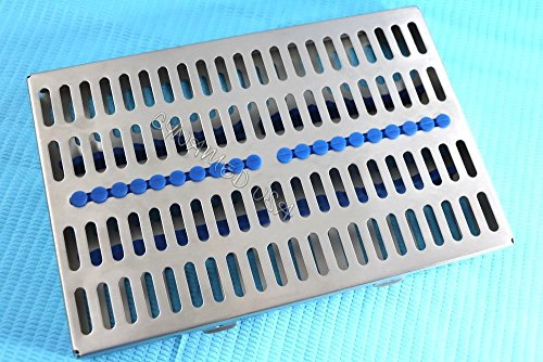 5 HEAVY DUTY GERMAN DENTAL AUTOCLAVE STERILIZATION CASSETTE RACK BOX TRAY FOR 20 INSTRUMENT BLUE ( CYNAMED ) by CYNAMED (Image #7)