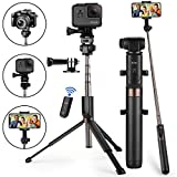Selfie Stick Bluetooth, KUSKY Newest Version Extendable Selfie Stick with Wireless Remote and Tripod for iPhone Xs MAX/XR/XS/X/iPhone 8/8 Plus/iPhone 6/Galaxy S9/S9 Plus/Note 8 Google, Huawei and More