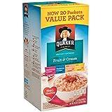Quaker Fruit & Cream Instant Oatmeal 20 Count Pack