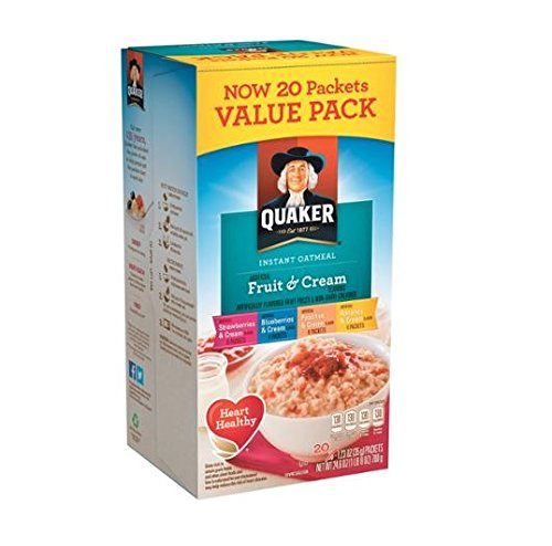 Quaker Fruit & Cream Instant Oatmeal 20 Count Pack by Quaker (Image #1)
