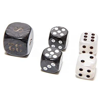 "Bello Games Deluxe Marbleized Dice Sets 5/8"": Toys & Games"