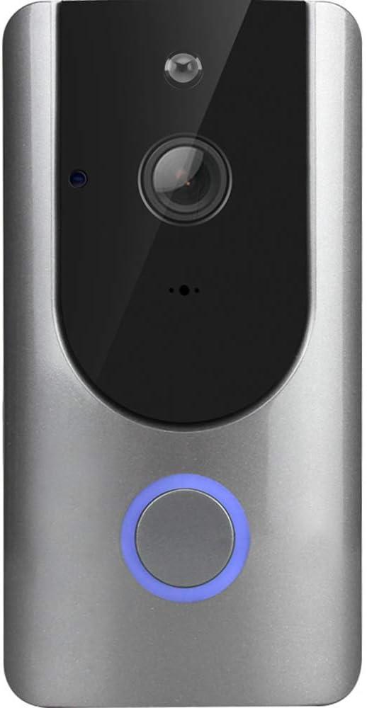 El Timbre de Video, el WiFi inalámbrico de Larga Distancia, el Espejo de la Puerta electrónica, el teléfono Inteligente y el intercomunicador del hogar, Incluye un Dispositivo de Memoria 16G