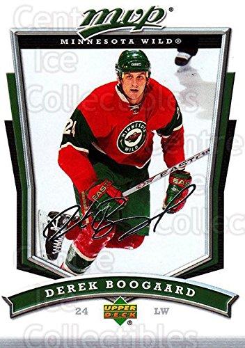 (CI) Derek Boogaard Hockey Card 2007-08 Upper Deck MVP (base) 296 Derek Boogaard (08 Upper Deck Ice)