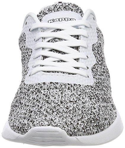 Zapatillas White Black Blanco Mujer Hover Kappa para 1011 SqRvw11Hp