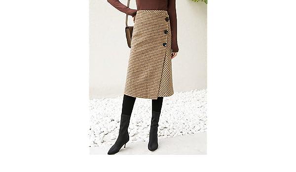 Mayihang Falda de Vestir para Mujer, Faldas diarias, Casual, una ...