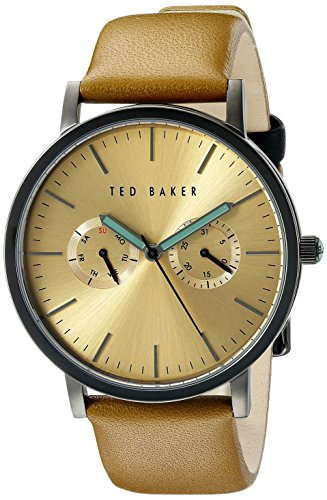 Ted Baker Round Dial (Ted Baker Men's TE1094 Smart Casual Round Black Multi-Function Gold Dial Watch)