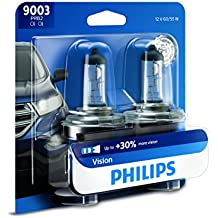 Philips 9003 Vision Upgrade Headlight Bulb, 2 Pack