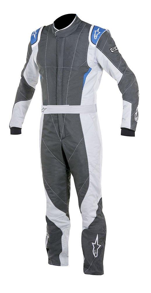 Alpinestars GP PRO Suit Black//Steel Gray//Red, Size 44