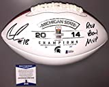 Connor Cook Signed 2014 Rose Bowl Champs Michigan State Football Bas Beckett Coa - Beckett Authentication