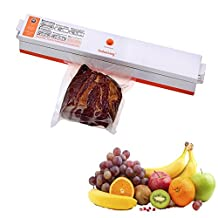 Jiayana 110V Mini Vacuum Sealing machine Packing Machine Sealer Machine Food Sealer Heat Sealer Set with 15Pcs Vacuum Bags Slim Fresh Plastic Pack Bag Storage for Food Fruits Meat
