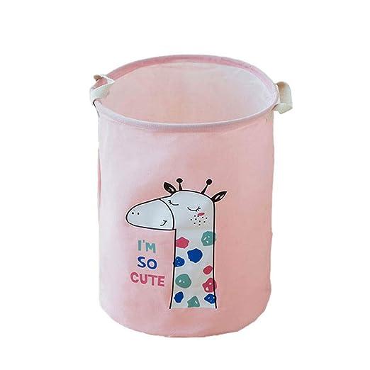 Depory Serie Animals Cubo Plegable de Lino y algodón Cesta para la ...