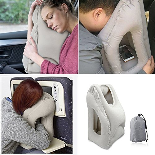 Homesky Inflatable Travel Pillow Airplane Pillow Travel