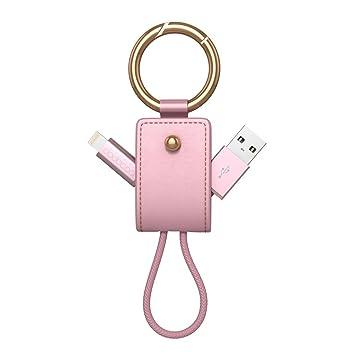 dodocool MFI Certificado USB Lighting Cable trenzado con llavero 2 en 1 USB cable 0.51ft / 155mm con llavero para iPhone 8 / 8 Plus / X / 7 / 7 Plus / ...