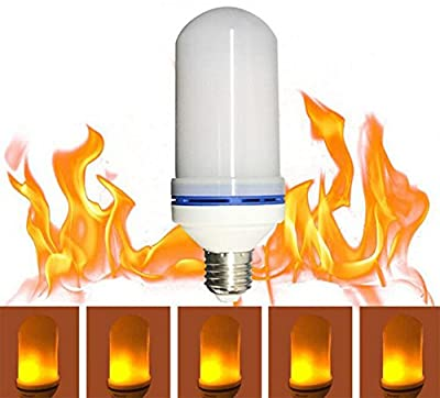JKLcom LED Flame Bulbs1Pack,E26 LED Animated Flickering Fire Effect Atmosphere Decorative LED Light