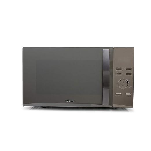 IKOHS Microondas HW800M Espejo - Microondas, 800W,Capacidad de 23L, 3 Niveles de Potencia, Temporizador hasta 30 minutos, Menú Automático 7, Cocción ...