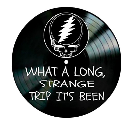Truckin' song lyrics by Grateful Dead on a Vinyl Record Wall Decor by VinylRevamped