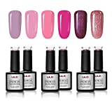 Gel Nail Polish Autumn Fall Winter Set ULG Soak Off UV LED Pink Purple
