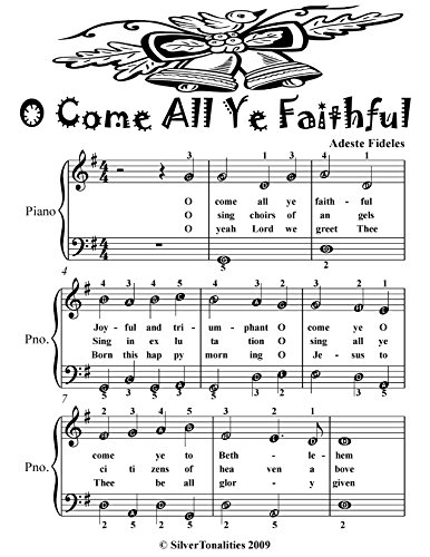 Adeste Fideles Piano - O Come All Ye Faithful Adeste Fideles Easy Piano Sheet Music Tadpole Edition