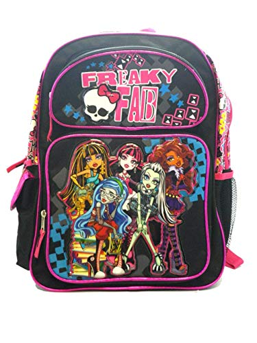 Full Size Black Freaky Fab Monster High Backpack - Monster High -