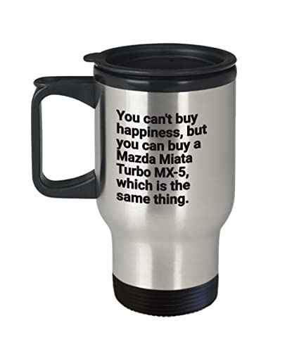 Mazda Miata Turbo MX-5 Gift Idea Travel Mug Cup Thermo Insulated Tumbler Thermal Thermos