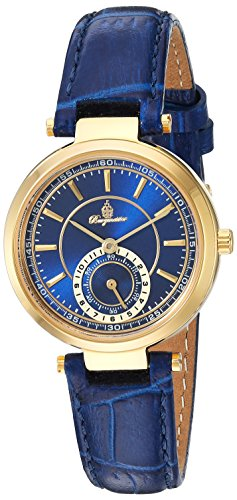 Burgmeister Women's Quartz Metal and Leather Casual Watch, Color:Blue (Model: BM336-233)