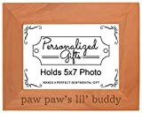 Best Personalized Gifts Buddies Frames - Grandpa Gift Paw Paw's Lil' Buddy Grandson Natural Review